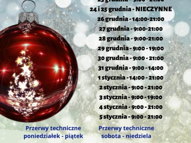 Świąteczno-noworoczne godziny pracy lodowiska Łoś w Łagowie